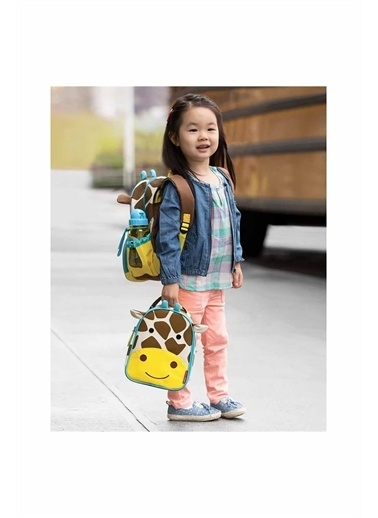 Skip Hop Skip Hop Zürafa Desenli Renkli Çocuk Beslenme Çantası Kahve